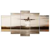 HD Sunset Airplane Framework