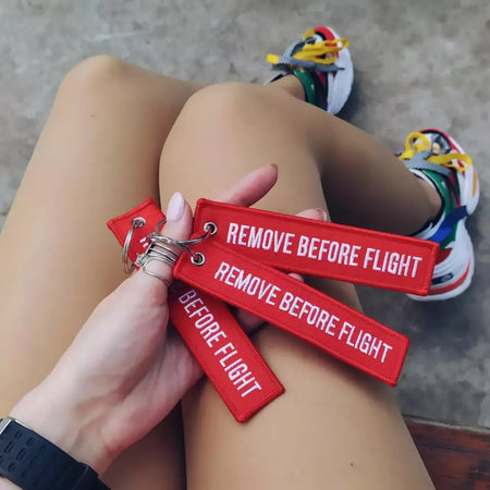 TODAY OFFER! REMOVE BEFORE FLIGHT keychains