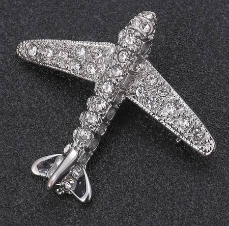 Creative Airplane  Brooch