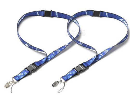 Boeing Wide Lanyard Blue String with Plane Print on for ID Card Holder