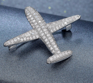Airplane Brooch