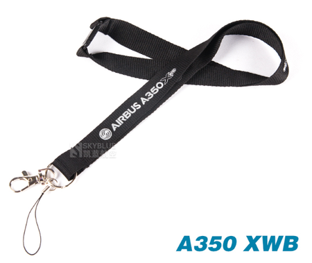 Airbus A350 XWB Lanyard Black Ribbon - Enjoy Aviation - AVIATION gifts -keychains-free ebook how to become a pilot