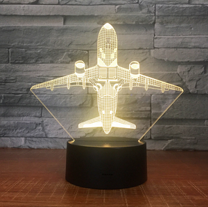 TAKING OFF AIRCRAFT DESIGNED 3D LAMPS