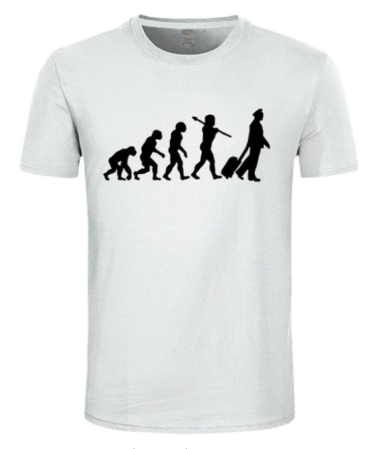 Evolution Of The Pilot print T shirt