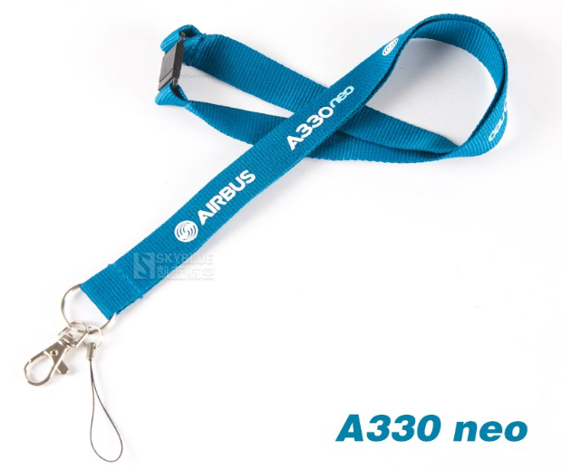 A330neo Airbus Lanyard Blue Ribbon - Enjoy Aviation - AVIATION gifts -keychains-free ebook how to become a pilot