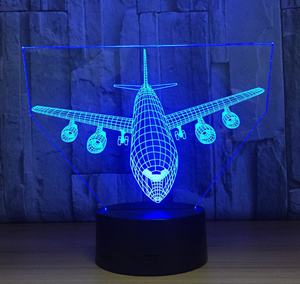 Remote Control Airplane 3D  LED Lamp