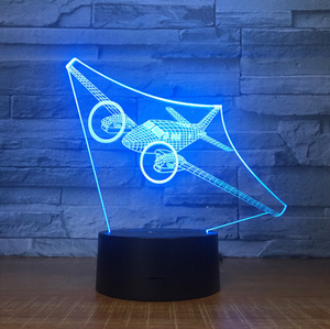 Propeller Airplane Color changing 3D Lamps