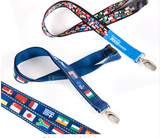 Boeing / Jeppesen International Universal World National Flag Lanyard