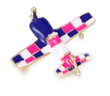 Load image into Gallery viewer, Propeller  Metal Airplane Brooch