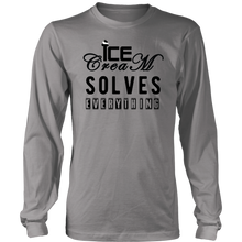 Load image into Gallery viewer, ICE CREAM SOLVE EVERYTHING Tees, Long Sleeves, and Hoodies