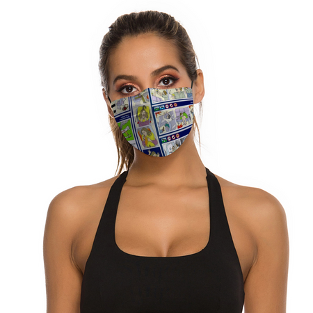 SAFETY CARD DESIGNED FACE MASKS