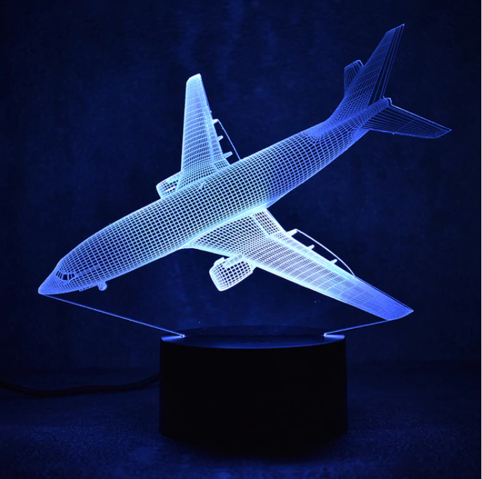 Airline Airplane Color changing 3D Lamps