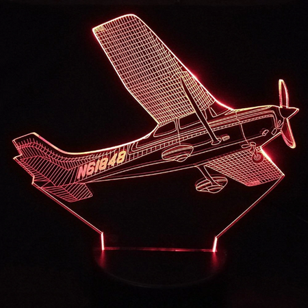 CESSNA Airplane Color changing 3D Lamps