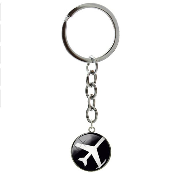 Classic Airplane key chain ring holder