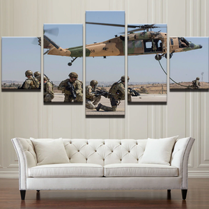HD Modern Canvas Wall Art Frame Army Soldier