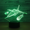Military Airplane Color changing 3D Lamps