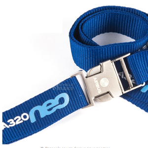 Airbus A320neo Lanyard with Metal Buckle Blue Ribbon - Enjoy Aviation - AVIATION gifts -keychains-free ebook how to become a pilot