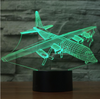 Beautiful classic Airplane Color changing 3D Lamps