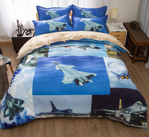 Aviation Fighter Duvet Cover