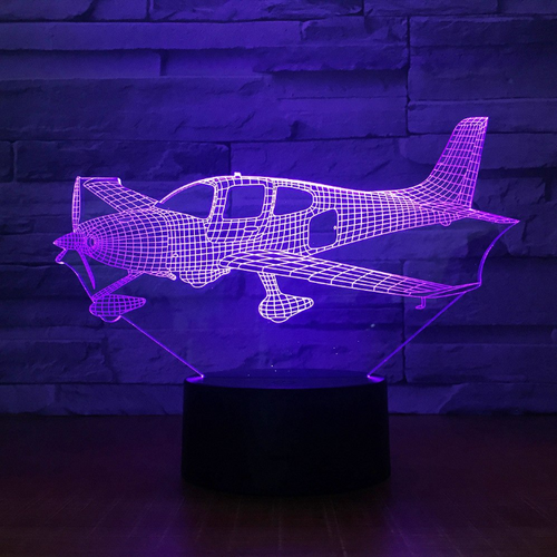 Airplane Color changing 3D Lamps - Enjoy Aviation - AVIATION gifts -keychains-free ebook how to become a pilot