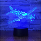 Airplane Color changing 3D Lamps