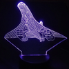 Concorde Airplane color changing 3D Lamps