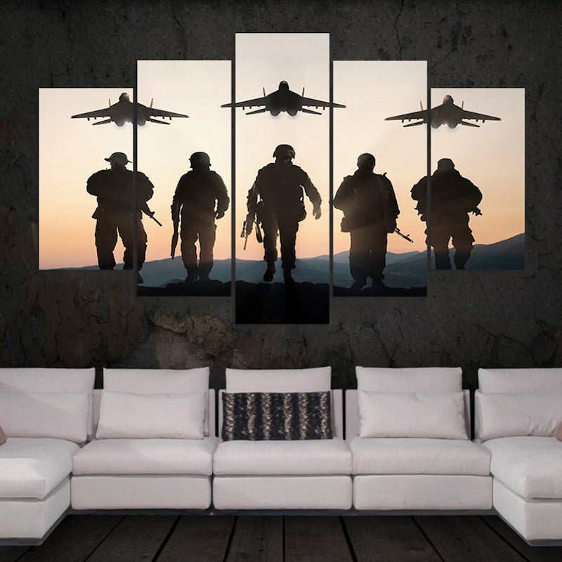 HD Soldiers And Airplane