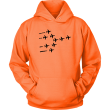 Load image into Gallery viewer, MILITARY AIRPLANES FORMATION Tees, Long Sleeves, and Hoodies