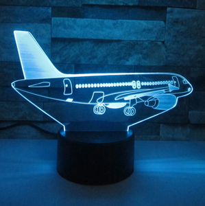 AIRBUS A320 Airplane Color changing 3D Lamps