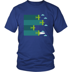 AIRPLANES FLYING IN FORMATION Tees, Long Sleeves, and Hoodies - Enjoy Aviation - AVIATION gifts -keychains-free ebook how to become a pilot