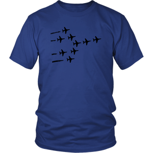 MILITARY AIRPLANES FORMATION Tees, Long Sleeves, and Hoodies