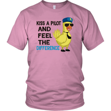 Load image into Gallery viewer, KISS A PILOT AND FEEL THE DIFFERENCE Tees, Long Sleeves, and Hoodies