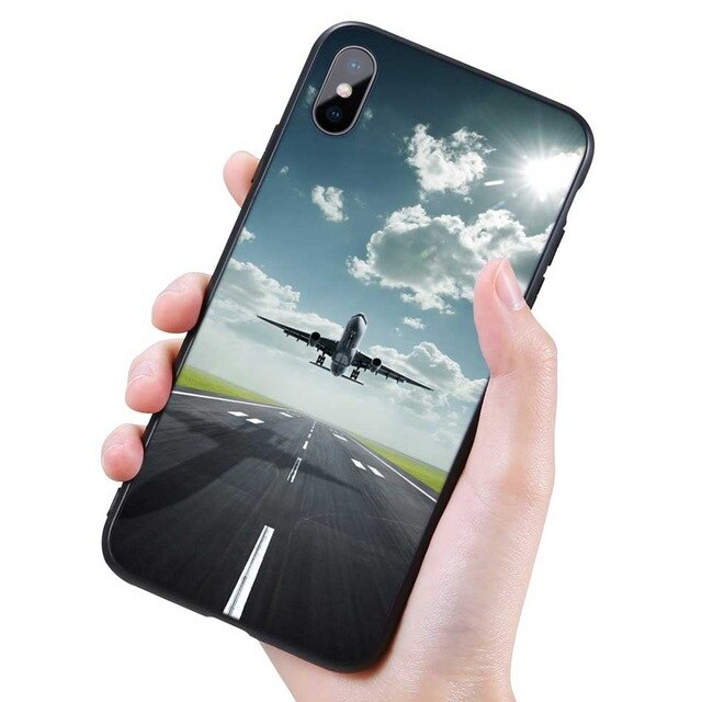 Silicone Black Case for iPhone