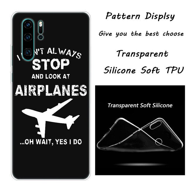 aircraftPhone Case for Huawei - Enjoy Aviation - AVIATION gifts -keychains-free ebook how to become a pilot