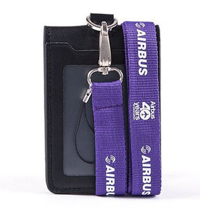 Airbus Logo Lanyard with ID Card Holder PU Leather Badge Case - Enjoy Aviation - AVIATION gifts -keychains-free ebook how to become a pilot