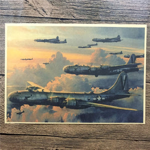 Military air combat aircraft poster