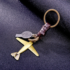 High-quality Vintage Aircraft model leather Key Chain.