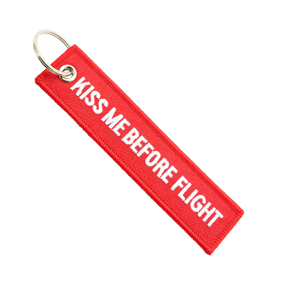 Remove Before Flight Black And Gold Keyring