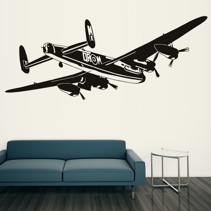 Bomber Airplane Wall Stickers