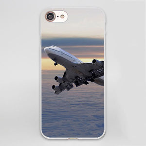 Airplane Soft Case Cover for iPhone X 7 8 6 6s Plus 5 5S SE 5C