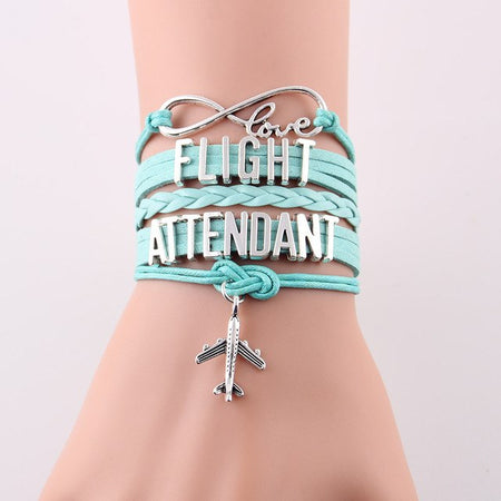 Casual Flight Attendant Leather Bracelets