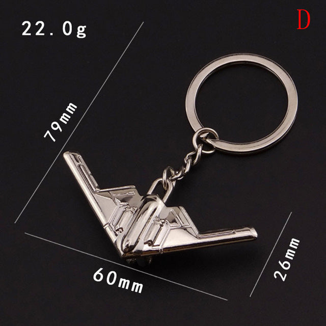 High-quality Aircraft model Key Chain.