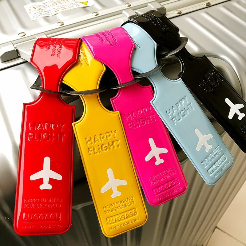 Leather Luggage Tag Cover