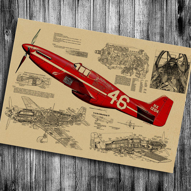 World War aircraft Poster