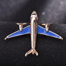 Load image into Gallery viewer, Metal Airplane Brooch