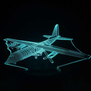Beautiful classic Plane 3D Lamp LED  7 Colors Changing Mood Lamp