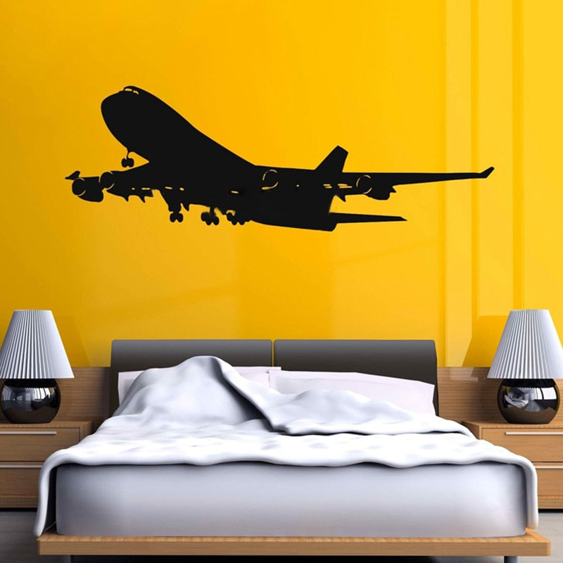 Airplane Wall Stickers - Enjoy Aviation - AVIATION gifts -keychains-free ebook how to become a pilot