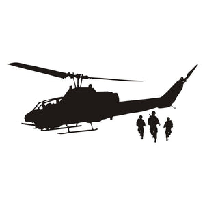 Army Helicopter Creative Wall Stickers