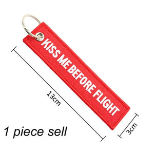 KISS ME BEFORE FLIGHT/ PILOT CREW  KeyChains.