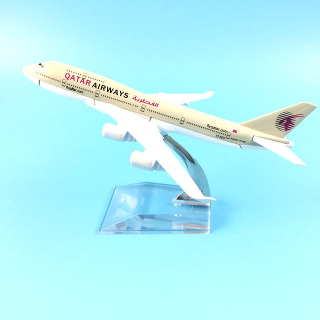 QATAR Airways Boeing B747 400 Airlines Plane Model